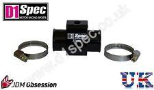 D1 Spec la temperatura del agua Calibre conjunta Pipa Sensor Adaptador 36mm Negro Jdm Racing