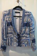 Zara Woman Lightweight Patterned Jacket Type Top Mulberry SILK EUR M See Details