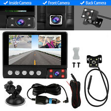 4' Touch Screen Car Camera Dual Dash Cam Front Rear Inside Night Vision G-sensor