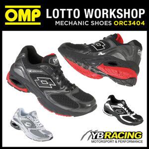 Sale! OMP Racing Boots Lotto Sport Trainers Shoes Kart Workshop Mechanic Pitcrew