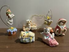 Lot Of 6 Calico Kittens Figurines w/o Boxes