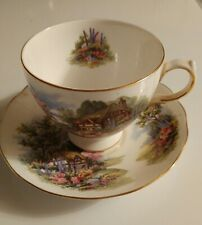 VINTAGE ROYAL VALE ENGLISH COTTAGE TEA CUP AND SAUCER