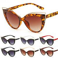 Vintage Womens Retro Cat Eye Sunglasses Fashion Eyewear Shades Flat Top Glasses