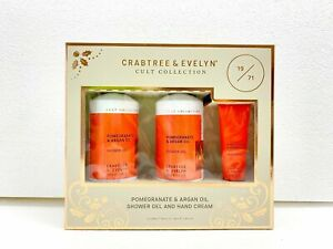 Crabtree & Evelyn gift Collection Pomegranate & Argan Oil Shower Gel &Hand Cream