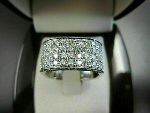 2.9Ct Diamond Men's Engagement & Wedding Pave Set Expensive Ring 14K White Gold