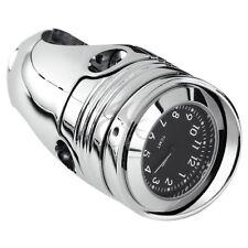 "Chrome 1 1/4"" 1.25"" Handlebar Clock Mount For Harley HD Davidson Cruiser Chopper"
