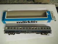 Marklin H0 4256 DB 2nd Class Silberling Passenger Car w/lights &passengers LNIB