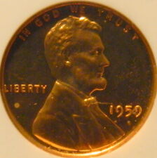 1959 PROOF LINCOLN CENT NGC CERTIFIED PF66  RED