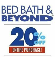 BED BATH &BEYOND 20% off 3+ month Expiration
