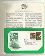 US Postage Stamp 1971-11-10 Spe Christmas Washington DC Postmark First Day Cover
