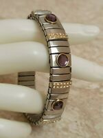 2ct Amethyst bracelet Stretch Swarovski Diamond Wedding Elegant Jewelry Handmade