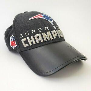 New England Patriots Gray NFL Super Bowl 51 Champions Trophy Hat Cap Football