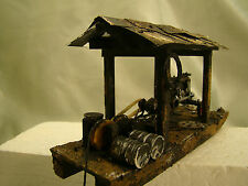 On30 or O Scale Gasoline Tractor Logging Wench - custom weathered, handcrafted