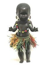 """Antique German Black Celluloid doll Schildkrot Turtle original outfit 8.5"""" 22cm"""