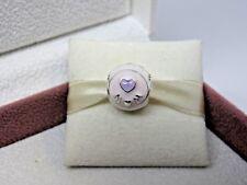 New w/Hinge Box Pandora Love Mom Mixed Enamel Charm 797057ENMX Heart Pink Purple