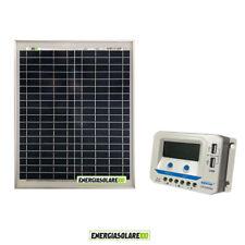 Kit solare pannello fotovoltaico 20W regolatore di carica EpSolar 10A prese USB