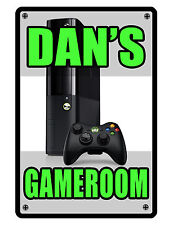 Personalized Game Room Sign Printed with YOUR NAME Custom Metal Sign XBOX #131