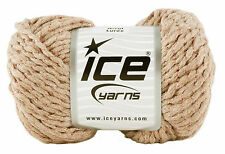 ACRYL LUREX YARN by Ice Yarns. Camel with Copper Lurex. Yarn no.14863. 50g Ball.
