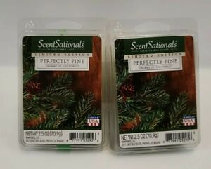 SCENTSATIONALS LIMITED EDITION PERFECTLY PINE WAX CUBE MELTS - LOT OF 2 PKGS.