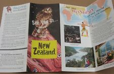 Vintage 1950's New Zealand Travel Brochure - See You in New Zealand