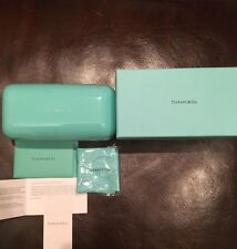 Tiffany sunglass/eyeglass hard box, gift box,cleaning cloth,Tiffany papers
