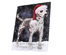 Let it Snow Christmas Catahoula Leopard Dog Tempered Cutting Board Large Db660