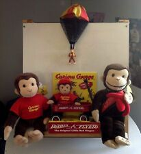 Curious George Toy Lot~Radio Flyer Wagon~Plush GUND~Parachute~Cupid Monkey~NWT