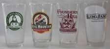 Closed micro beer, brewery pint glasses, mixed, your choice, pick 6 of 12