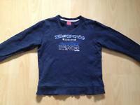 Esprit Pullover Gr. 128/134 XS Sweatshirt mit Auto blau