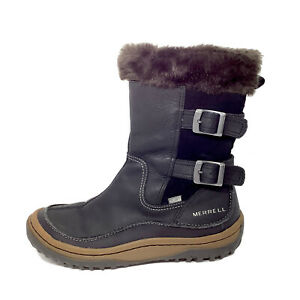 Merrell Decora Chant Women's Size 9 Winter Snow Boots 200g Select Grip Black