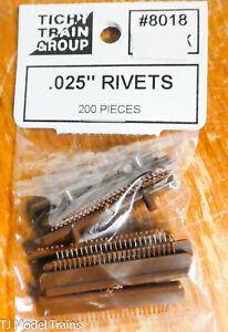 """Tichy Train Group #8018 (Rivets) .025"""" (200 Pieces) Plastic Parts"""