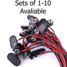9V Battery Connector Clip & Tinned Wire Leads 150mm Multi Wire Plug Socket