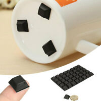 40pcs Self Adhesive Silicone Bumper Cupboard Furniture Buffer Pad Non Slip Black
