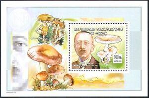 Congo 2002 Mushrooms/Fungi/Nobel Prize Winners/People1v m/s (s3567)