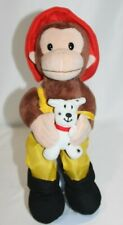 Applause CURIOUS GEORGE Plush  BROWN MONKEY FIREMAN Stuffed Animal Dalmation Dog