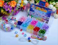 Box Lot 160pcs Mix Color Shining Crystal Pearl Jewelry Beads Set Kids Crafts DIY