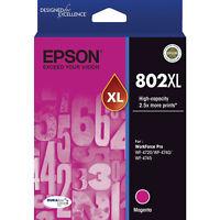 GENUINE Original Epson 802XL Magenta High Capacity Ink Cartridge Toner T356392