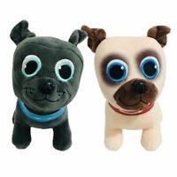 2PC Cartoon Puppy Dog Pals Pet Bingo Rolly Soft Stuffed Plush Doll Xmas Gift Toy