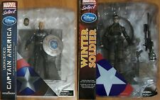 CAPTAIN AMERICA UNMASKED + WINTER SOLDIER Marvel Select Disney Exc RARE Avengers