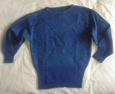 Maglione di Lana Blu con inserti brillanti e vita stretta