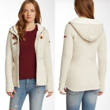 Bench Chillbee Toggle Jacket Cream Full Zip Outdoor Winter Hooded Womens S
