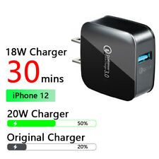 For iPhone/Samsung Fast Charge Qc 3.0 Usb Hub Wall Charger +Apple Type-C Cable