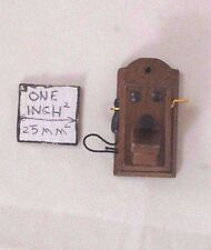 """1920s Wall Phone miniature Telephone  wooden 1-12"""" scale IM66100 dollhouse"""