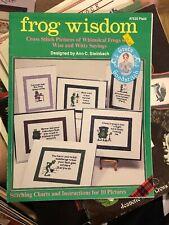 Frog Wisdom Ann C Steinbach Cross Stitch Patterns Sayings Whimsical NEW