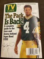 1997 Brett Favre TV Guide Green Bay Packers Roots Bette Milder Christa Miller