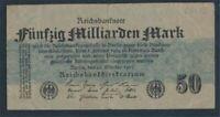 German Empire Rosenbg: 122c, without FZ used (III) 1923 50 billion. Mark(8981310