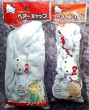 Sanrio Hello Kitty Hair Turban Towel Hair Cap Shower Bathing Hat Turban Set