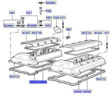 LAND ROVER GENUINE GASKET -VALVE ROCKER ARM COVER- Range Rover (L322)- LR003812