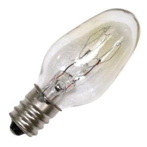 10C7 - 10 Watt, Clear Incandescent Light Bulb