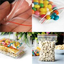 100pcs 9x13cm Ziplock Zipped Lock Reclosable Plastic Poly Clear Seal Bags BG(B3)